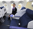 Widest business class seats on B787, ANA club