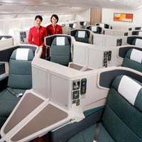 Cathay Pacific new business class rolled out March 2011