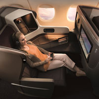 New SIA business class seats on B777-300ER aircraft