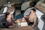 Cathay Pacific first class seat pod