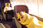 Thai Airways first class sleeper bed