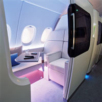 A380 suite has stretch space and privacy