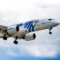 A220, originally the C Series from Bombardier, is the new passenger darling - EgyptAir