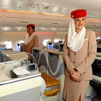 Emirates A380 cabins have more elbow space and leg room