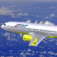 South Korean low cost airline Jin Air - B737-800