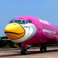 Asian budget airlines show spark, Nok sporks a yellow beak