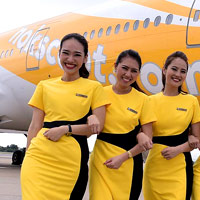 Asian low cost airlines, NokScoot from Thailand