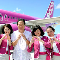Asian low cost airlines, Peach cabin crew are all smiles