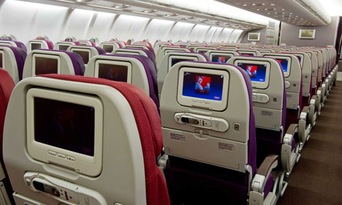 Malaysia Airlines economy cabin