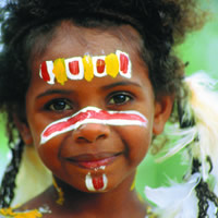 Cairns guide, Local girl shows off her face paint