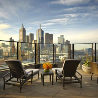 Melbourne business hotels review, Langham Club Terrace rooms offer fine views
