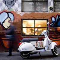 Melbourne fun guide, city scene with colourful graffiti