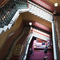 Windsor staircase, heritage hotel stays