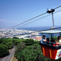 Cable car, Montjuic Park, Barcelona, Spain