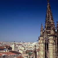 The Barcelona Cathedral church
