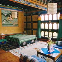 Traditional room at Gangtey Palace Hotel