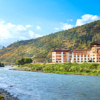 Le Meridien Paro overlooks the river