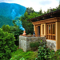 Beautifully sited Uma by COMO Punakha (pictured) compares well vs Amankora
