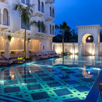 Angkor boutique hotels, Sarai poolside