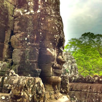 Angkor fun guide, stone face