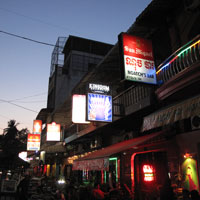 Phnom Penh nightlife, bars on Street 104 are dangerous late at night