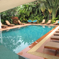 Phnom Penh boutique hotels, Villa Paradiso pool