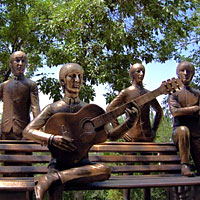 Almaty fun guide, The Beatles in bronze