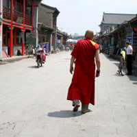 Inner Mongolia guide, monk at Lao Jie, Huhhot