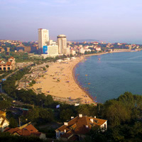 Qingdao beach, a family-friendly destination