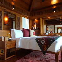 Sanya resorts review, Mandarin luxury pool villa interior