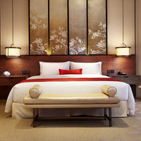 Shanghai chic hotels, Twelve at Hengshan chinoisserie, bedroom