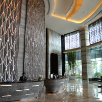 Review of Shenzhen business hotels, JW Bao'an grand lobby
