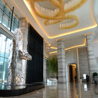Shenzhen MICE venues, JW Marriott Bao'an, spacious lobby