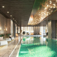 Shenzhen luxury hotels review, Raffles indoor pool
