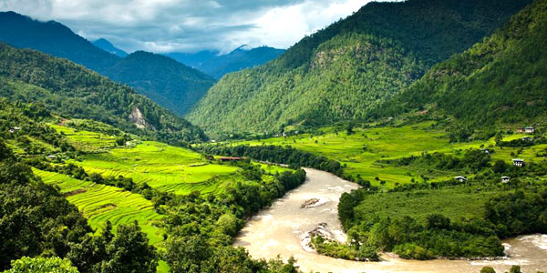 Bhutan guide to adventure and luxury stays - view from Uma by COMO Punakha