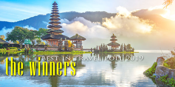 2019 Best in Travel Poll - Bali was ranked the No.1 Holiday Destination in Asia by Smart Travel Asia readers