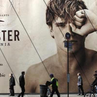 New York shopping guide, Hollister billboard