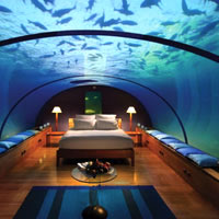 Amazing wedding underwater, stay at a converted suite at Ithaa at Conrad Maldives