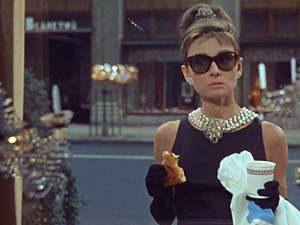 A fun search for coffee - a Sydneysider speaks out - Audrey Hepburn in Breakfast at Tiffany's