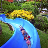 Best Asian child-friendly hotels, splash slide at Grand Hyatt Bali