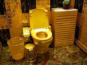 Hong Kong's gold toilet
