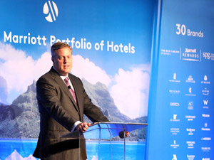 Marriott announces takeover of Starwood, Craig Smith Marriott President AP at Hong Kong press conference Friday 23 September 2016