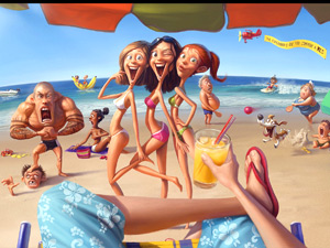 Can you really trust travel images online? Beach scene by Tiago Hoisel