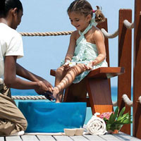 Family friendly resorts, Four Seasons Maldives spa treatments for kids