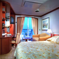 Asian cruise experience, Crystal Serenity Deluxe Stateroom