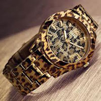 The GUESS leopard watch
