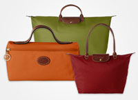 Inflight duty free prices for Longchamp bags