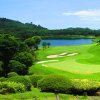 Golfing in Phuket, Thailand, Blue Canyon