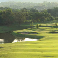 Chiangmai Highlands Resort greens, golf in North Thailand