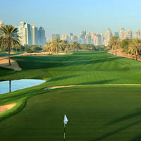 Golfing in Dubai at the Emirates Club course